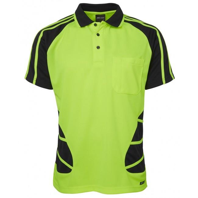 Jbs Wear Hi Vis Short Sleeve Spider Polo Shirt Work In It