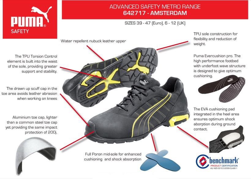 Details about Puma Safety Shoes Puma Metro AMSTERDAM 642717 AUTHORISED DEALER