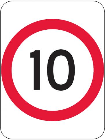 10KM Speed Sign