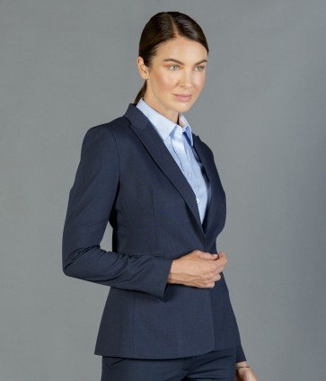 Gloweave Womens Washable One Button Jacket - Navy