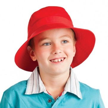 Legend Kids Twill Bucket Hat with Toggle - Red Model
