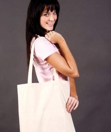 Calico Tote Bag Long Handle - Model