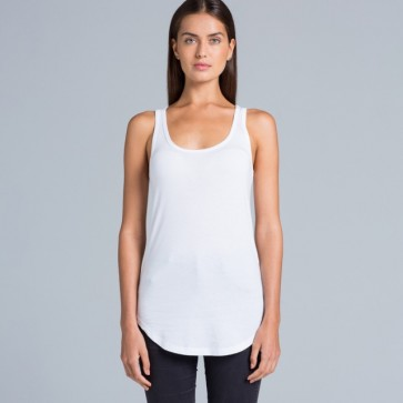 AS Colour Ladies Dash Singlet - Model White