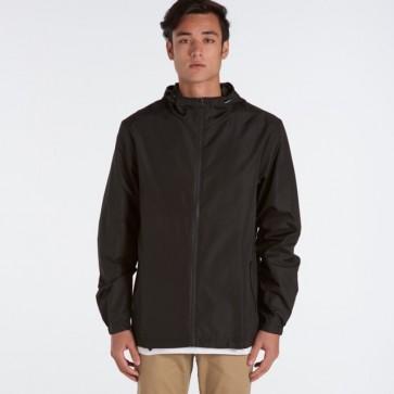 AS Colour Men's Section Zip Jacket  - Black Model Front