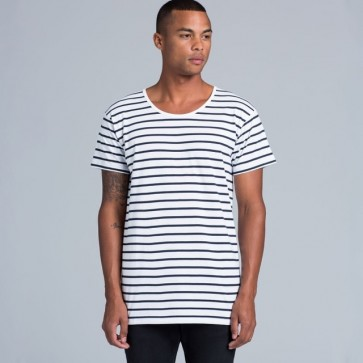 AS Colour Wire Stripe Tee - Model Front