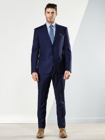 Aston Colton Men's Pure Wool Suit Jacket Royal Blue
