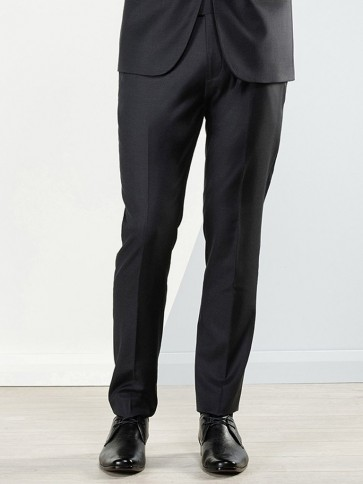 Aston Colton Men's Pure Wool Trousers - Charcoal