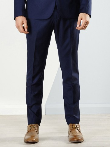 Aston Colton Men's Pure Wool Trousers - Royal Blue