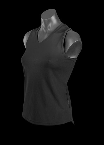 Aussie Pacific Ladies Botany Singlet - Black