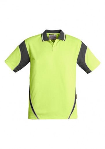 Hi Vis Aztec Mens Short Sleeve Polo (Button Free) 175gsm