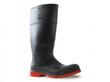 Bata Utility Gumboot - Steel Toe Cap Black/Red