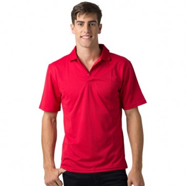 BeSeen pique knit polo The Scorpion Red
