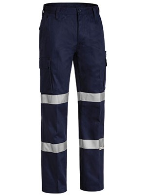 Bisley 3M Double Taped Cotton Drill Cargo Work Pant