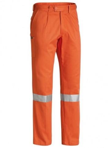 Bisley Men's 3M Taped Original Work Pant - Orange Front