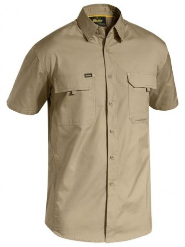 Bisley Men's X Airflow™ Ripstop Work Shirt  - Khaki Front