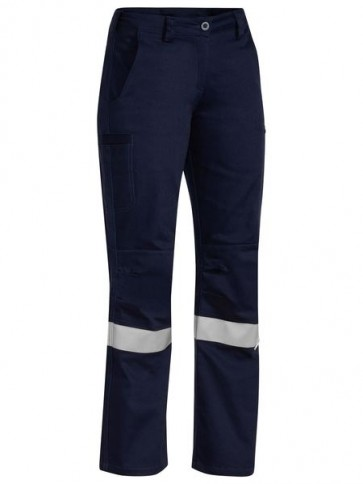 Bisley Women's 3M Taped Industrial Engineered Drill Pant - Front