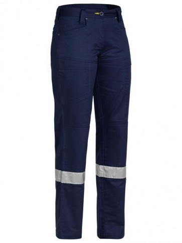 Bisley Women's 3M Taped X Flow Ripstop Vented Work Pant - Front