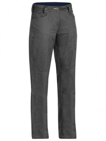 Bisley Women's X Flow Ripstop Vented Work Pant - Charcoal Front