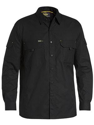 Bisley Men's X Airflow™ Ripstop Work Shirt - Black