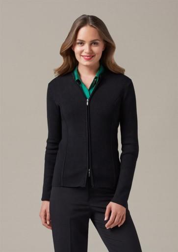 Biz Collection Ladies 2-Way Zip Cardigan - Model