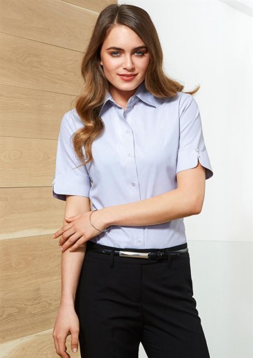 Biz Collection Ladies Ambassador Short Sleeve Shirt - Model