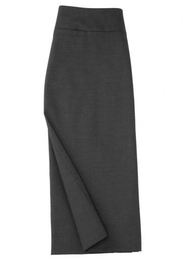 Biz Collection Ladies Classic Below Knee Skirt -Chacoal Marle
