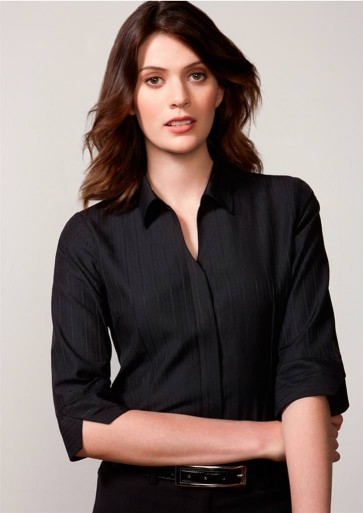 Biz Collection Ladies Preston 3/4 Sleeve Shirt - Model