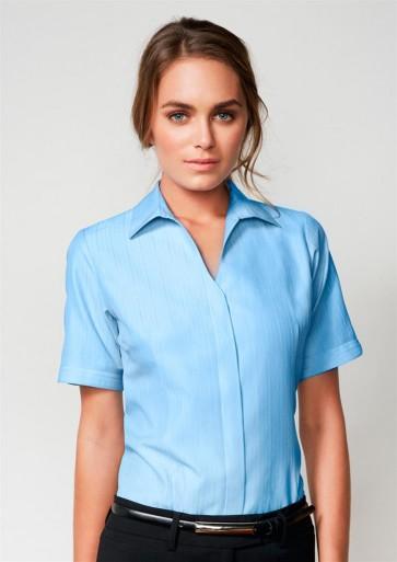 Biz Collection Ladies Preston Short Sleeve Shirt - Model