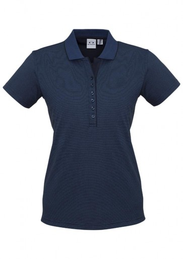 Biz Collection Ladies Shadow Polo - 175 GSM