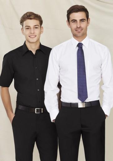 Biz Collection Mens Base Short  Sleeve Shirt - Models