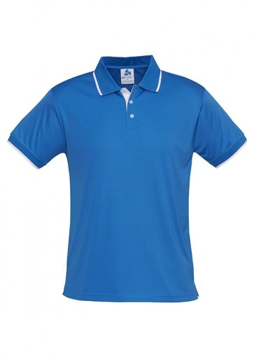 Biz Collection Mens Miami Polo - Blue White