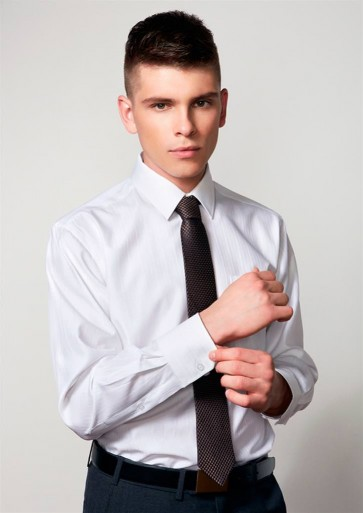Biz Collection Mens Preston Long Sleeve Shirt - Model