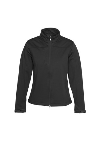 Biz Collection Ladies BIZ TECH™ Soft Shell Jacket - Black Front