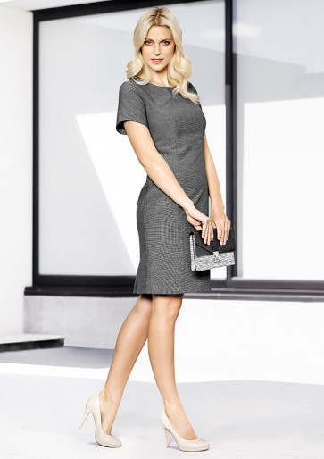 "Biz Corporates Ladies Short Sleeve Shift Dress ""Rococo"""