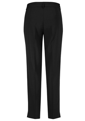 "Biz Corporates Ladies Ladies Slim Leg Pant ""Wool Stretch"" Black Front"