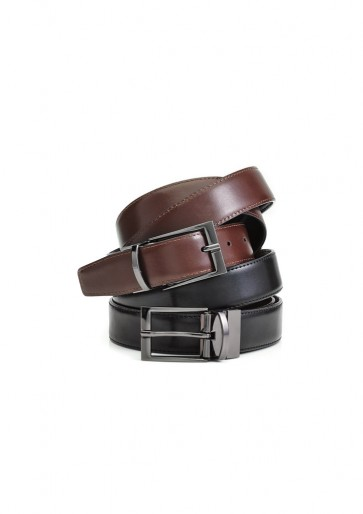 Biz Corporate Mens Leather Reversible Belt