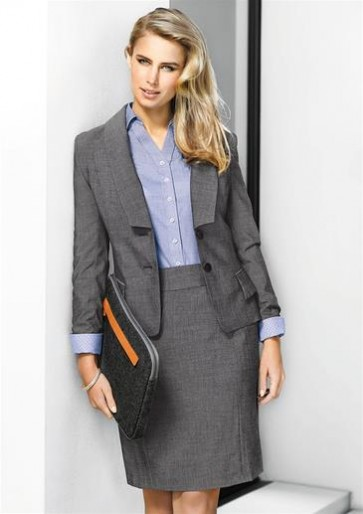 Biz Corporates Ladies Cropped Jacket - Model