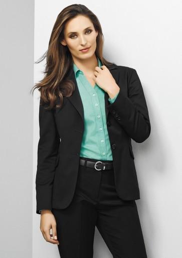 "Biz Corporates Ladies Longline Jacket 'Plain"" Model"