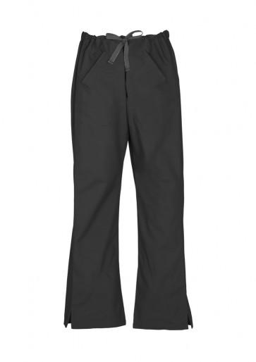 Bizcare Ladies Classic Scrubs Bootleg Pant - Black Front