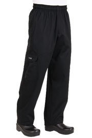 Chef Works Black Cargo Chef Pant