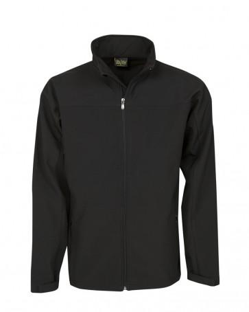Blue Whale Mens Soft Shell Jacket 320gsm - Black