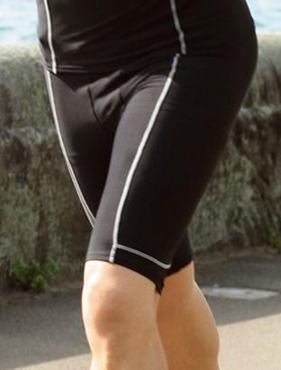 Bocini Mens Compression Wear Knee Length Bike Shorts - Model 2