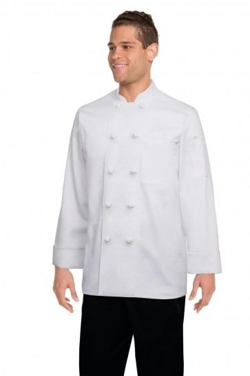Chef Works Bordeaux White Chef Jacket - Front