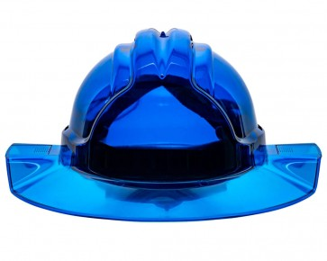 Tuffgard Clearview Broadbrim Vented Hard Hat Type 2 - Blue Front