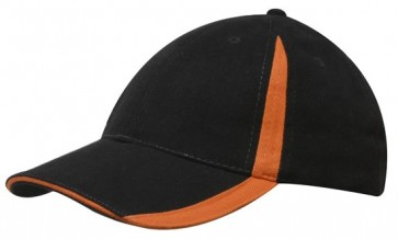 Brushed Cotton Cap - Inserts on the Peak & Crown