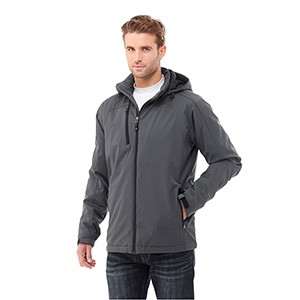 Bryce Mens Insulated Softshell Jacket - Charcoal Model