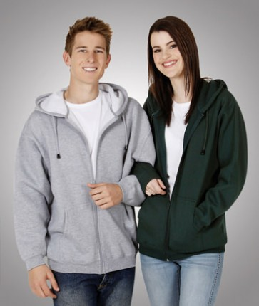 Blue Whale  Full Zip Fleecy Hoodie - Models