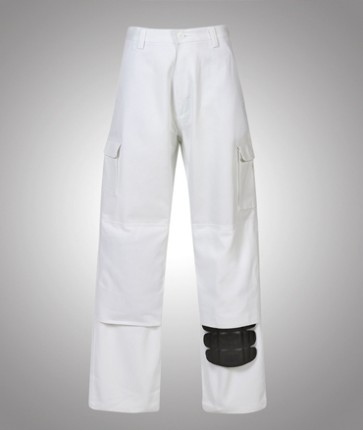 Blue Whale Heavy Drill Painters Drill Trousers - With Knee Pad