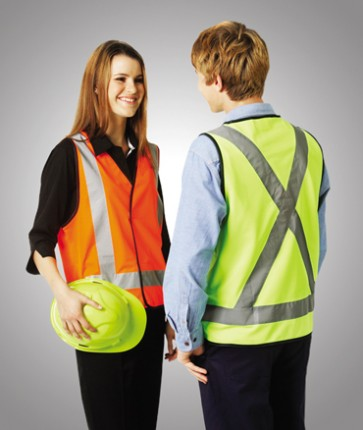 Blue Whale Hi Vis Day Night Safety Vest H Pattern
