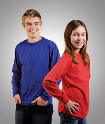Budget Mens Premium Long Sleeve Cotton T-Shirt - Models